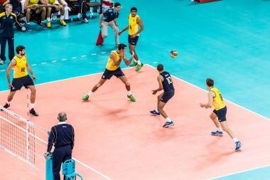August 2012 Russia vs Brazil Volleyball Final, London Olympics, London, UK