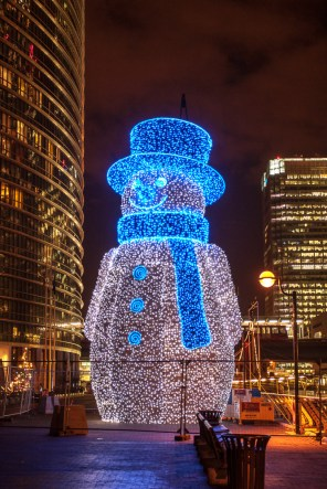 December 2006 Snowman, West India Quay, Canary Wharf, London, UK