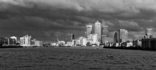 May 2009 River Thames, Canary Wharf, London, UK