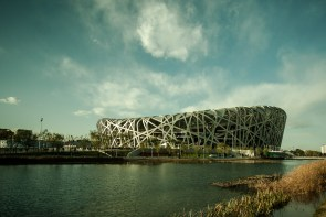 November 2008 Beijing National Stadium, officially the National Stadium also known as the Bird's Nest, Beijing, China