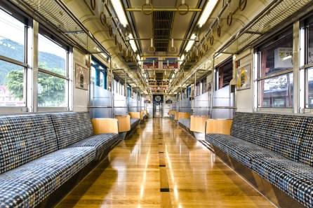 May 2013 Train to Fujiyoshida, Mount Fuji (富士山), Japan