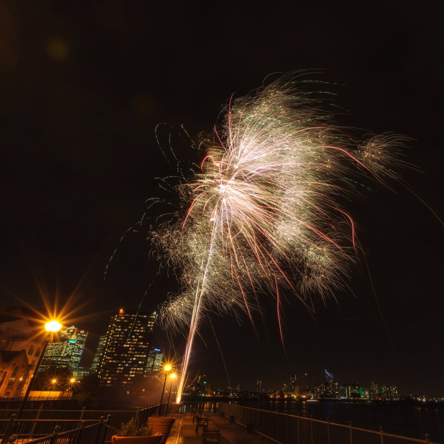 November 2013 Guy Fawkes Night, Millennium Pier, London, UK