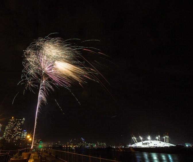 November 2013 Guy Fawkes Night, Millennium Pier, London, UK