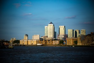 July 2014, Canary Wharf, River Thames, London, UK