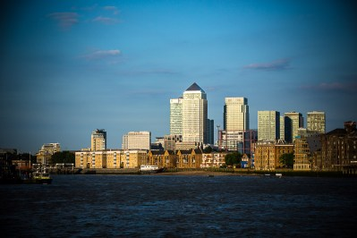 July 2014, Canary Wharf, River Thames, London, UK