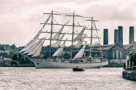 September 2014, Spectacular Dar Mładzieży, The Tall Ships Festival 2014, River Thames, London, UK