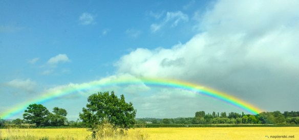 July 2015, Rainbow, M11 from Stansted to London, UK