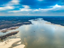 January 2019, Vistula River, near Warsaw, Poland