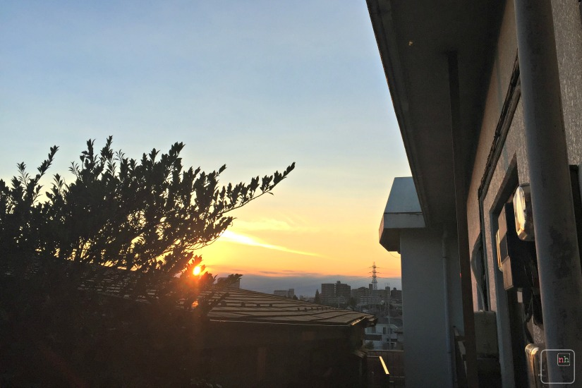 sunsent from summit house tokyo japan higashi kurume
