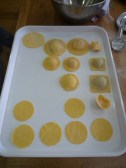 Raviolli - some filled with ricotta and basil, mushroom duxell, sweet potato.