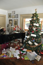 Christmas morning over at J's beautiful house.