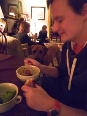 Chilli dinner at J's house.