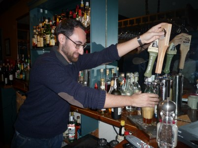 Take one: pouring the pint...