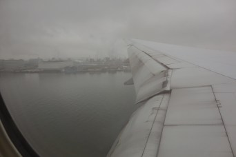 Horrible weather to greet us into Haneda Airport!