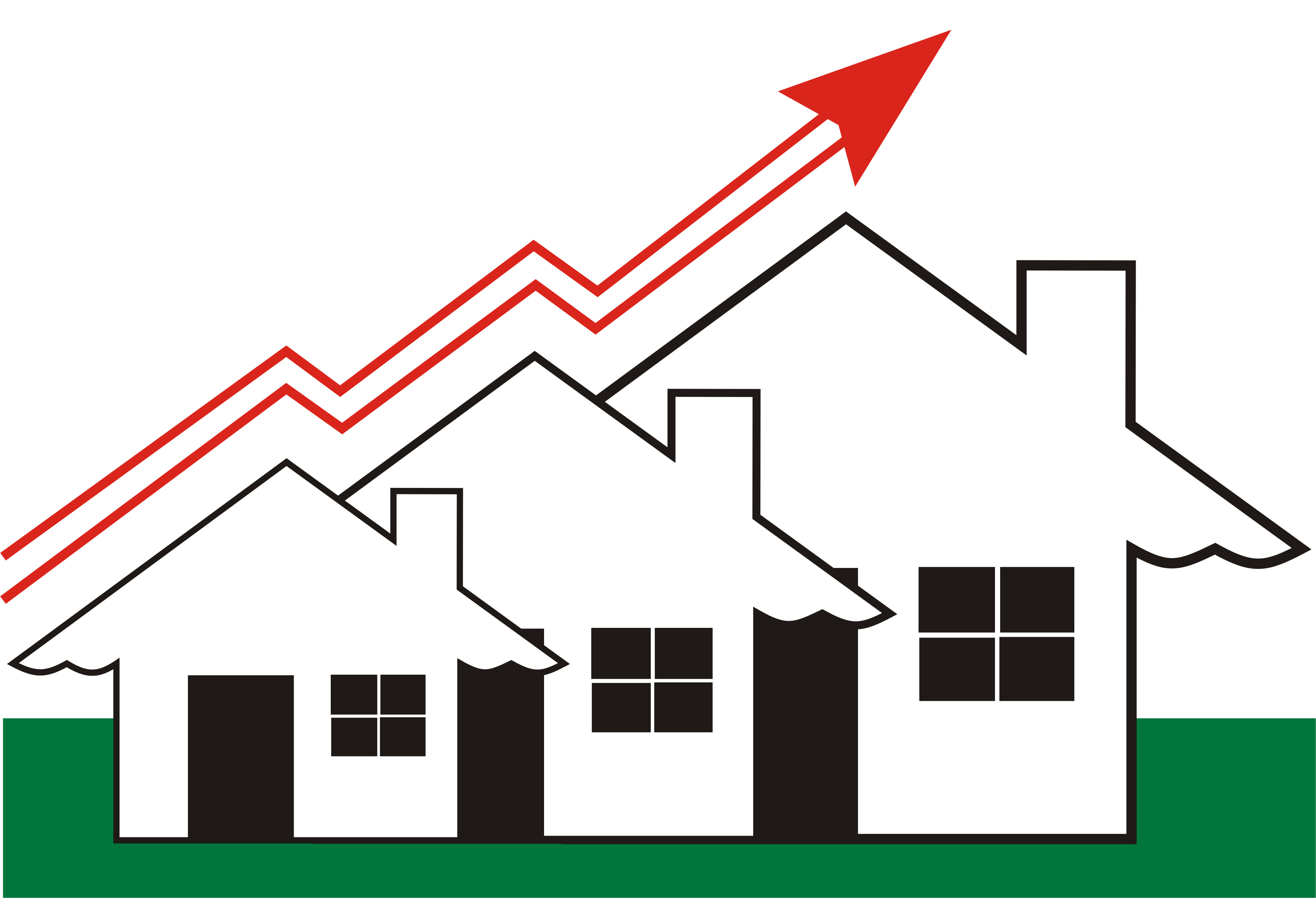 graphic of rising home sales