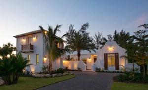 Florida home at dusk