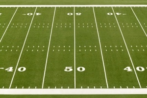 football field 50 yard line from above