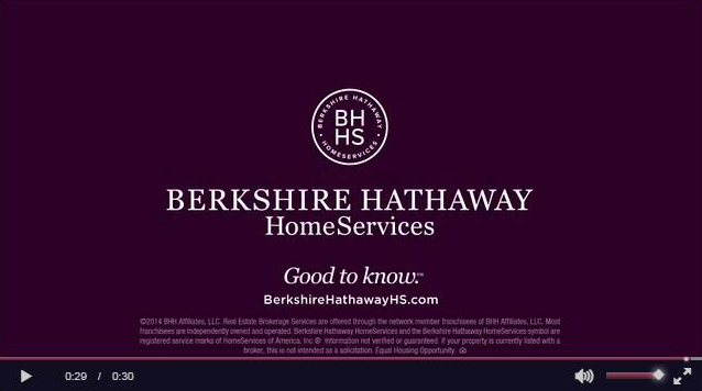 Berkshire Hathaway Home Services on plum background - video banner