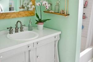 bathroom vanity painted grey