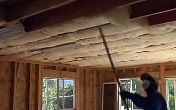 Insulating a home ceiling