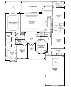 floor plan - 1st floor - Toll Brothers Aragon Mediterranean-style home exterior Bonita Lakes Florida