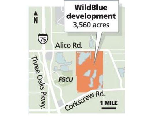 WildBlue Estero Florida community location map
