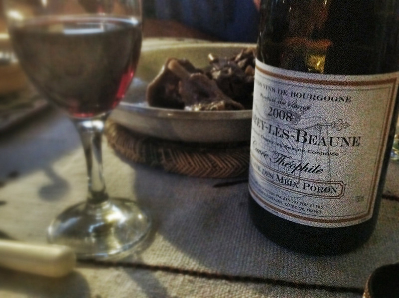 Burgundy wine from Beaune, France