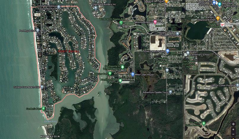 Port Royal, Naples, Florida aerial view