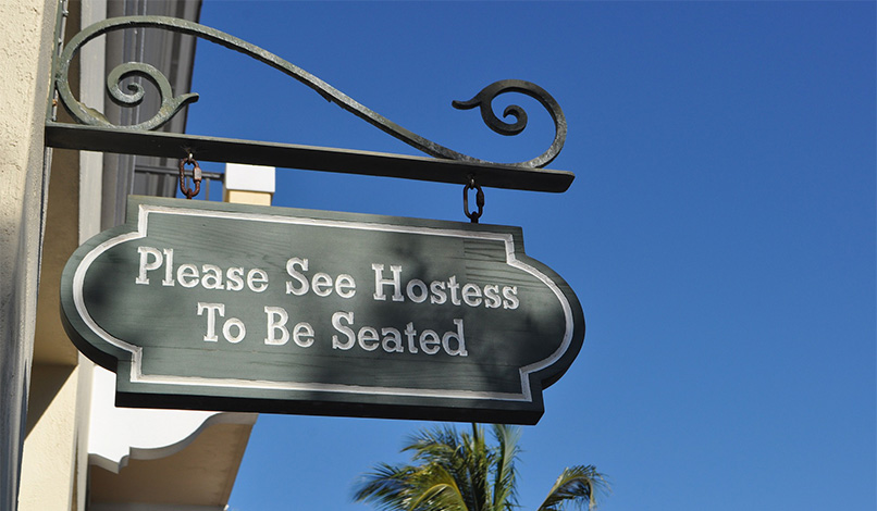 Please see hostess to be seated Naples, Florida