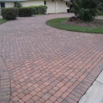 Pressure Cleaned Driveway Pavers