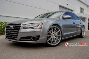 Audi A8 with Vossen VFS1 Wheels