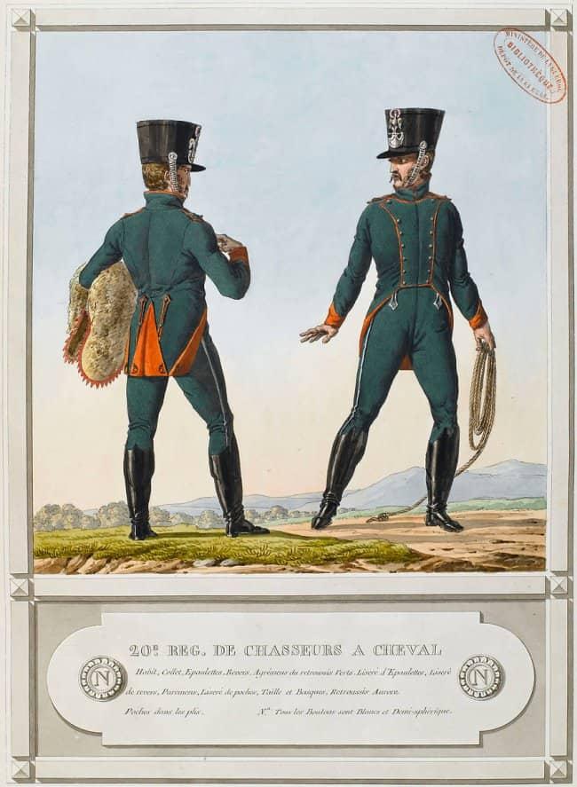 Le 20e régiment de chasseurs à Cheval.(Vernet)