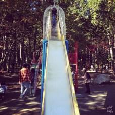 公園で遊んで、温泉へ。