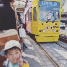 市電に乗ったら、お知り合いがいました。