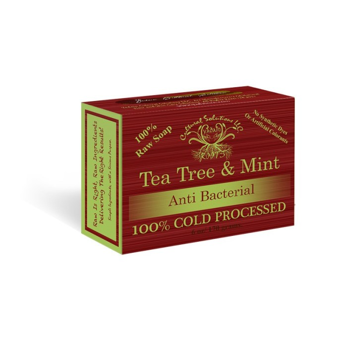 Raw Tea Tree & Mint Deep Penetrating , Therapeutic Bar