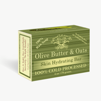 Olive oil butter is a thick moisturizer derived from olive oil.Olive Butter & Oats Deluxe Bar deeply moisturizes by delivering moisture to the surface of the skin and then locking in that moisture with a waterproof butter. The anti-oxidants found in olive oil, stimulates cells naturally leaving the skin smooth and healthy. This topical skin therapy is great for lowering the risk of dermatitis and eczema. It can also simply be used as a beautifying agent, as olive has been historically used for beauty for over 5,000 years. Olive Butter & Oats Deluxe Bar