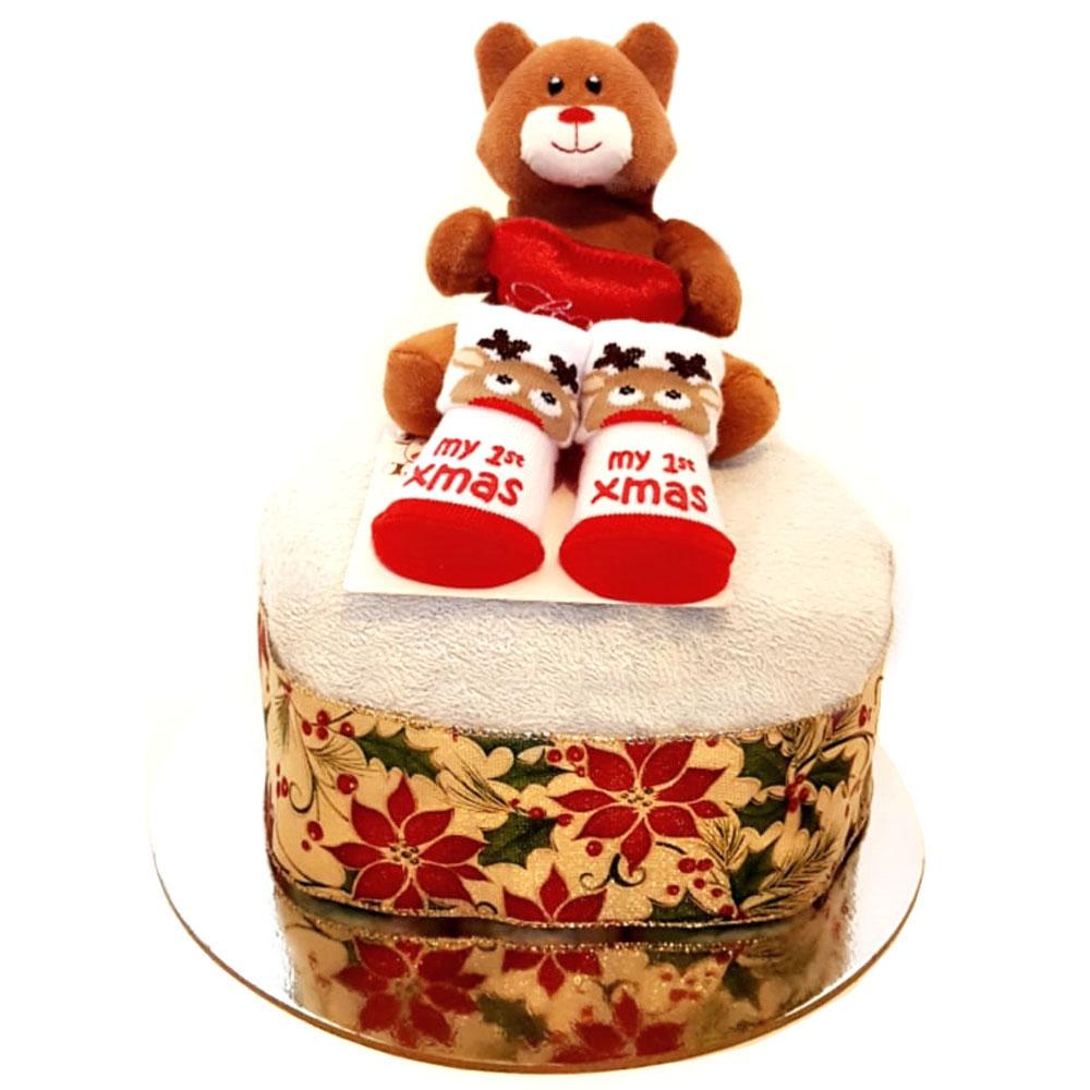 Baby's 1st Christmas Nappy Cake