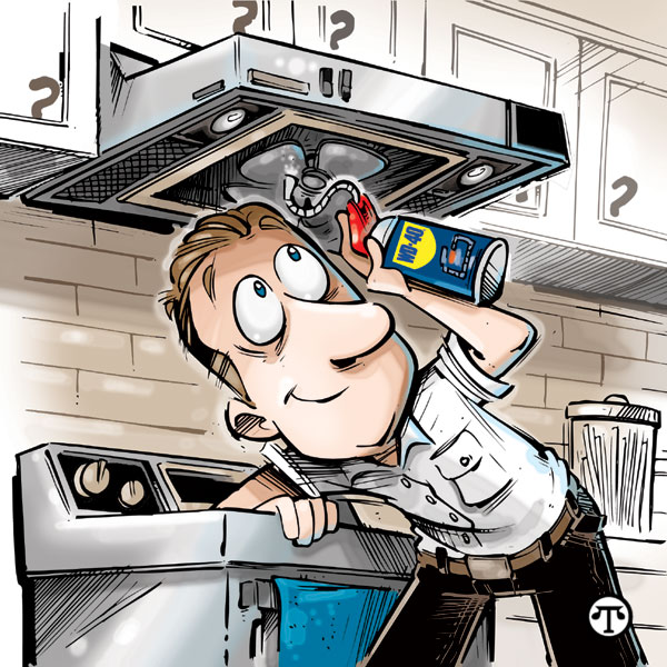 Do it yourself four home projects fosterfollynews lubricate the exhaust fan above the kitchen stove with wd 40 ez reach solutioingenieria Images