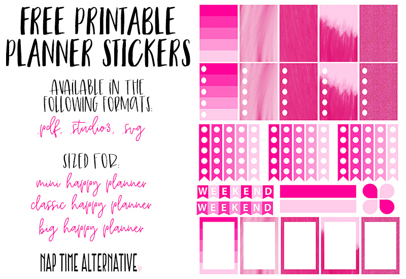 photo about Free Printable Happy Planner Stickers known as Charming in just Crimson - Totally free Print Minimize Stickers for the Delighted
