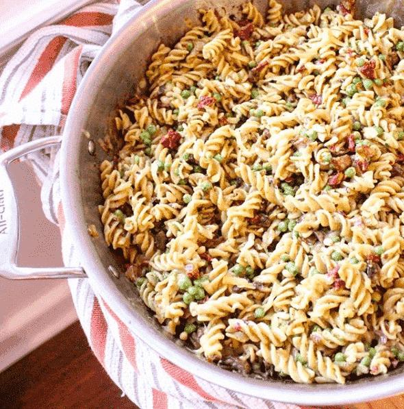 Pesto Mushroom Pasta