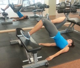 one leg glute bridge
