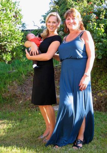 Mom and I with baby Vivi