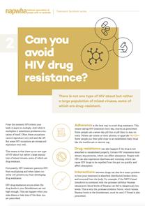 2 of 8 Treatment Factsheet – HIV drug resistance