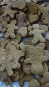 galletas de jengibre recién hechas