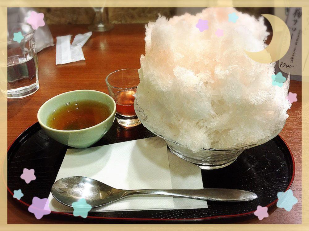 奈良町 穀雨 いちごかき氷