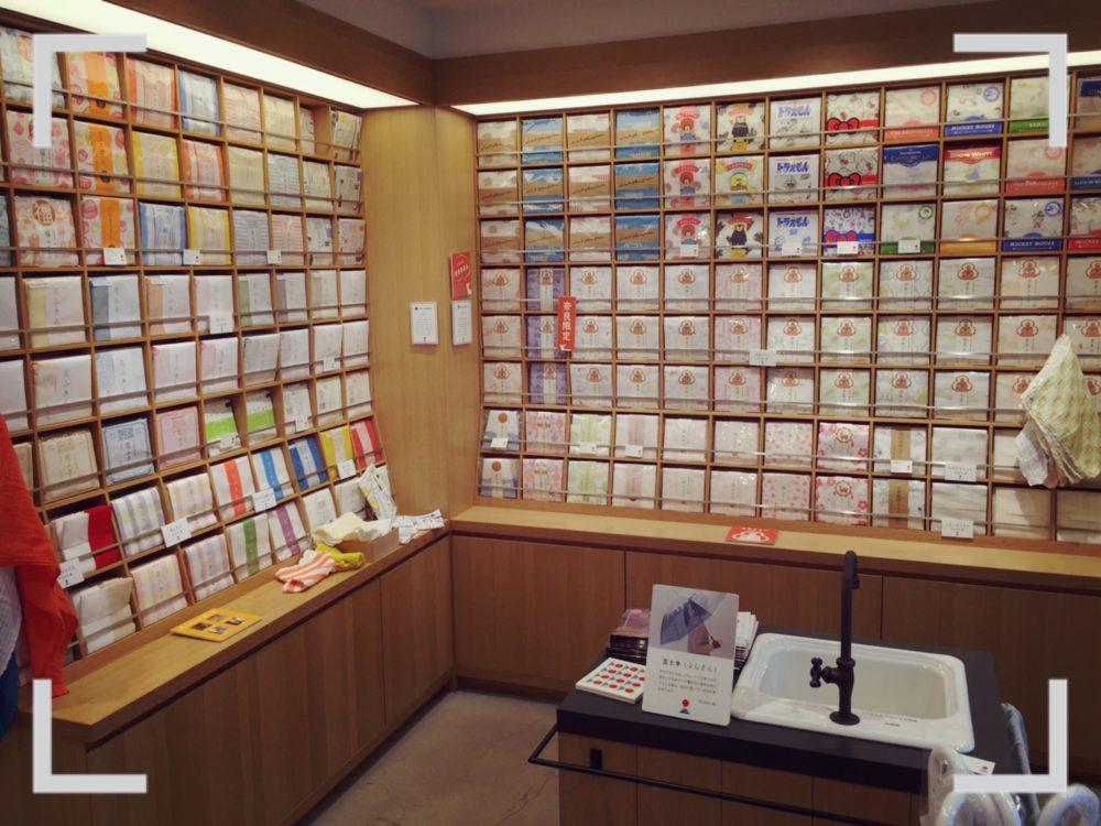 日本市花ふきん売り場