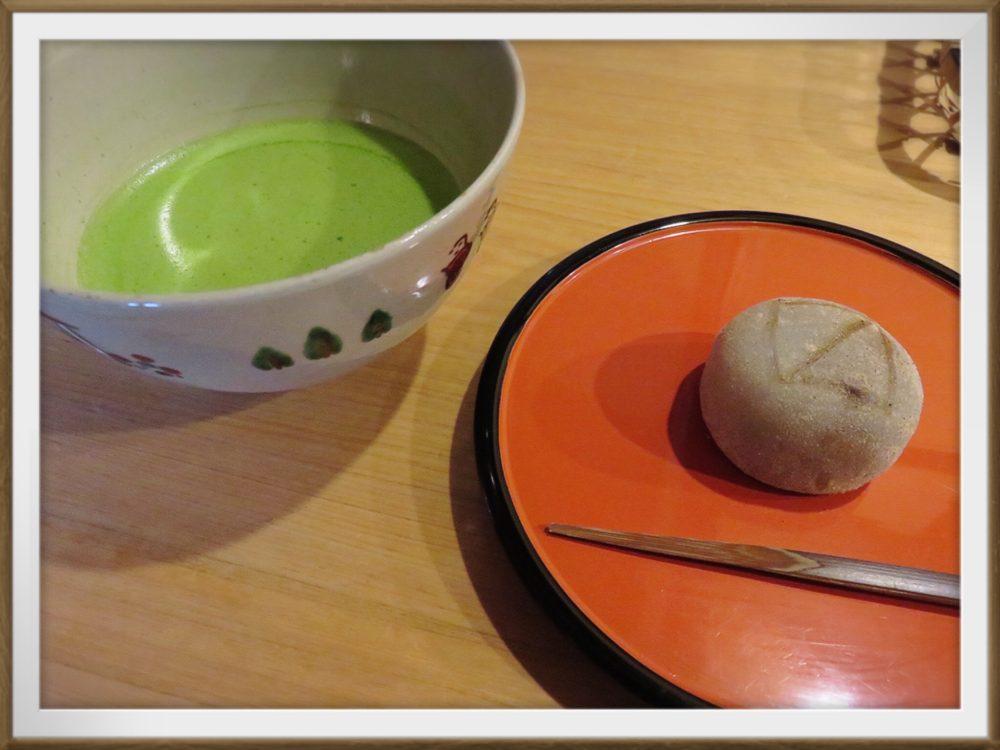 樫舎 お抹茶と季節の生菓子800円