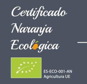 Certificado UE Naranaja Ecológica
