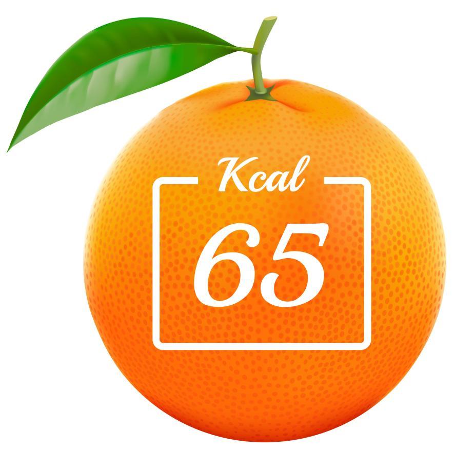 Calorías de una naranja