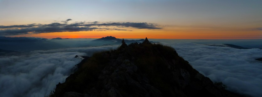 Sunset from the summit, pixie cairns